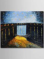 Недорогие -Hang-роспись маслом Ручная роспись - Известные картины / Пейзаж Modern холст