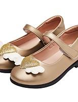 Недорогие -Девочки Обувь Полиуретан Весна & осень Удобная обувь / Детская праздничная обувь На плокой подошве для Дети / Для подростков Золотой / Черный