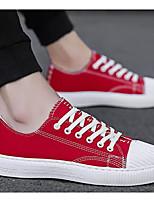 Недорогие -Муж. Комфортная обувь Полотно Весна & осень Кеды Белый / Черный / Красный