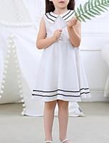 Недорогие -Дети Девочки Полоски Без рукавов Платье