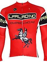 Недорогие -ILPALADINO Муж. Длинный рукав Велокофты - Красный Мода Велоспорт Верхняя часть Зима, Эластан