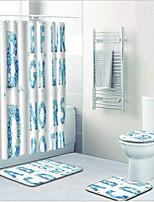 abordables -1 set Moderne Tapis Anti-Dérapants Polyester Elastique Tissé 100g / m2 Nouveauté Rectangle Salle de Bain Mignon