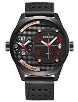 Недорогие -CURREN Муж. Спортивные часы Японский Японский кварц 30 m Защита от влаги Календарь Повседневные часы Кожа Группа Аналоговый На каждый день Мода Черный / Коричневый - Черный Черный / коричневый