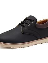 Недорогие -Муж. Комфортная обувь Полиуретан Осень Кеды Черный / Синий / Хаки