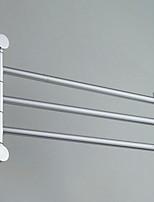 abordables -Barre porte-serviette Design nouveau / Cool Moderne Aluminium 1pc Barre de 3 serviettes Montage mural