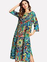 baratos -vestido de turno magro das mulheres midi