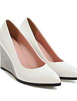 baratos -Mulheres Sapatos Confortáveis Microfibra Primavera Saltos Salto Plataforma Branco / Azul / Rosa claro
