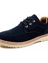 Недорогие -Муж. Комфортная обувь Замша Осень На каждый день Туфли на шнуровке Дышащий Черный / Синий / Верблюжий