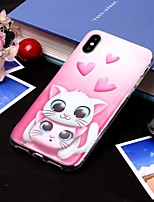 abordables -Coque Pour Apple iPhone XS / iPhone XS Max IMD / Translucide Coque Chat Flexible TPU pour iPhone XS / iPhone XR / iPhone XS Max