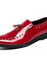 baratos -Homens Sapatos Confortáveis Couro Ecológico Outono Oxfords Preto / Vermelho / Azul / Festas & Noite