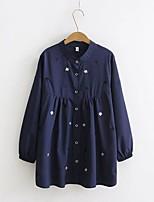 Недорогие -женская хлопковая свободная блузка - сплошной цветной воротник рубашки
