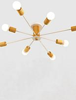 Недорогие -QINGMING® 8-Light Мини Люстры и лампы Рассеянное освещение Окрашенные отделки Металл Мини 110-120Вольт / 220-240Вольт