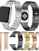 billiga -Klockarmband för Apple Watch Series 4 / Apple Watch Series 4/3/2/1 Apple Klassiskt spänne Metall / Rostfritt stål Handledsrem