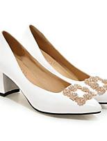 abordables -Femme Chaussures de confort Cuir Verni Eté Chaussures à Talons Talon Bottier Blanc / Noir / Rouge / Mariage / Quotidien