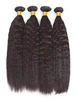 abordables -4 offres groupées Cheveux Birmans Droit Yaki Non Traités / Cheveux humains Cadeaux / Costumes Cosplay / Tissages de cheveux humains 8-28 pouce Couleur naturelle Tissages de cheveux humains simple