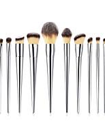 billiga -12st Makeupborstar Professionell Rougeborste / Ögonskuggsborste / Läppensel Nylon fiber Fullständig Täckning