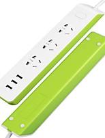 Недорогие -широкополосная mp2 wifi интеллектуальная сетевая полоса, интеллектуальная защита от перенапряжений с 3 портами зарядки USB и 3 интеллектуальных вилки переменного тока alexa voice controllable