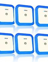 Недорогие -brlong интеллектуальное управление светом индукция нас стандартный квадратный ночник 6 шт.