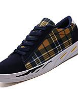 Недорогие -Муж. Комфортная обувь Полиуретан Осень На каждый день Кеды Нескользкий Черный / Бежевый / Синий