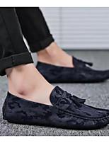 Недорогие -Муж. Комфортная обувь Искусственная кожа Лето Мокасины и Свитер Черный / Серый / Синий