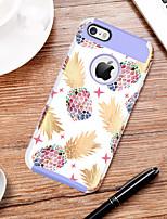 Недорогие -BENTOBEN Кейс для Назначение Apple Кейс для iPhone 5 / iPhone 6s Защита от удара / С узором Кейс на заднюю панель Фрукты Твердый ТПУ / ПК / силикагель для iPhone 6s / iPhone 6 / iPhone SE / 5s