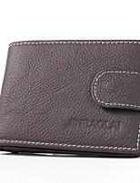 Недорогие -Муж. Мешки PU Бумажники Сплошной цвет Шоколадный / Черный