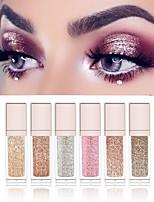 abordables -6 couleurs Fards à Paupières Liquide Brillant Maquillage Quotidien / Maquillage d'Halloween / Maquillage de Fête Maquillage Cosmétique