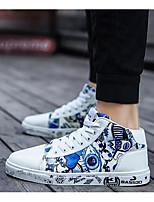 baratos -Mulheres Sapatos Confortáveis Couro Ecológico Outono Tênis Sem Salto Preto / Branco / Preto / Branco / azul