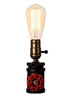 Недорогие -старинная водопроводная столовая лампа промышленного кованого железа с e26 / e27 edison base ретро чердак для гостиной прикроватная лампа с переключателем