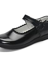 Недорогие -Девочки Обувь Кожа Весна & осень Удобная обувь На плокой подошве На липучках для Дети / Для подростков Белый / Черный