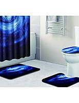 Недорогие -3 предмета Modern Коврики для ванны 100 г / м2 полиэфирный стреч-трикотаж Новинки Прямоугольная Ванная комната Очаровательный