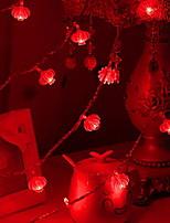 Недорогие -1,5 м Гирлянды 10 светодиоды Красный Декоративная Аккумуляторы AA 1 комплект