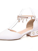 abordables -Femme Chaussures de confort Polyuréthane Printemps Chaussures à Talons Talon Bottier Blanc / Bleu / Rose / Mariage / Quotidien