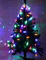 Недорогие -1,2 м Гирлянды 10 светодиоды Разные цвета Декоративная / обожаемый Солнечная энергия 1 комплект