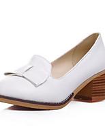 Недорогие -Жен. Комфортная обувь Полиуретан Весна Обувь на каблуках На толстом каблуке Белый / Черный / Синий