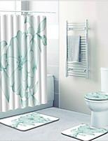 billiga -1set Moderna Duschmattor 100g / m2 Polyester Stretch Blomtryck Rektangulär Badrum Förtjusande