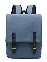 Недорогие -Жен. Мешки холст рюкзак Молнии Черный / Темно-синий / Светло-серый