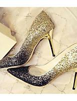Недорогие -Жен. Комфортная обувь Полотно Весна Обувь на каблуках На шпильке Золотой / Красный