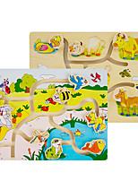Недорогие -Деревянные пазлы Животные Cool утонченный деревянный 1 pcs Детские Все Игрушки Подарок