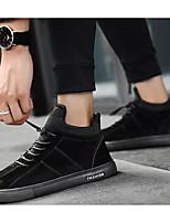 Недорогие -Муж. Комфортная обувь Замша Весна & осень Кеды Черный / Серый / Хаки