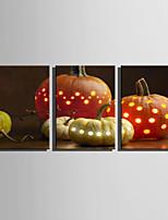 Недорогие -С картинкой Отпечатки на холсте - Натюрморт / Halloween Modern