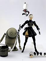 Недорогие -Аниме Фигурки Вдохновлен Нир: Automata 2B ПВХ 14 cm См Модель игрушки игрушки куклы