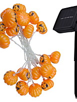 Недорогие -2,5м Гирлянды 10 светодиоды Тёплый белый Новый дизайн / Декоративная / Cool Солнечная энергия 10 шт.