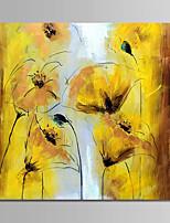 abordables -Peinture à l'huile Hang-peint Peint à la main - A fleurs / Botanique Moderne Sans cadre intérieur / Toile roulée