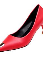 Недорогие -Жен. Балетки Полиуретан Осень На каждый день Обувь на каблуках На шпильке Черный / Бежевый / Красный / Повседневные