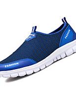 Недорогие -Муж. Комфортная обувь Сетка Лето На каждый день Мокасины и Свитер Дышащий Серый / Кофейный / Синий