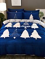 Недорогие -Пододеяльник наборы Рождество Полиэстер Активный краситель 4 предметаBedding Sets / 4 шт. (1 пододеяльник, 1 простынь, 2 наволочки)
