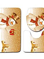 Недорогие -3 предмета Modern Коврики для ванны 100 г / м2 полиэфирный стреч-трикотаж Креатив / Геометрический принт нерегулярный Ванная комната Очаровательный / обожаемый