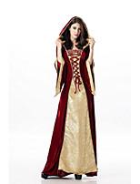 Недорогие -Queen Платья Косплэй Kостюмы Жен. Взрослые Платья Хэллоуин Хэллоуин Маскарад Фестиваль / праздник Инвентарь Красный Рисунок