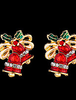 Недорогие -Жен. Классический Серьги-гвоздики - Бант, Расклешенные Мода, Симпатичные Стиль Красный Назначение Рождество фестиваль